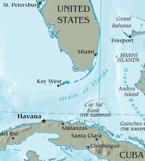 State of Florida Map - Public Domain